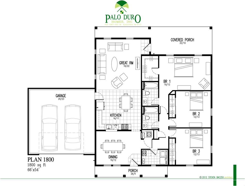 Plan 1800 1800 Sq Ft Palo Duro